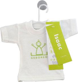 Mini T-Shirtje Geboortekaartje isaac