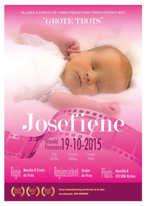 filmposter geboortekaartje