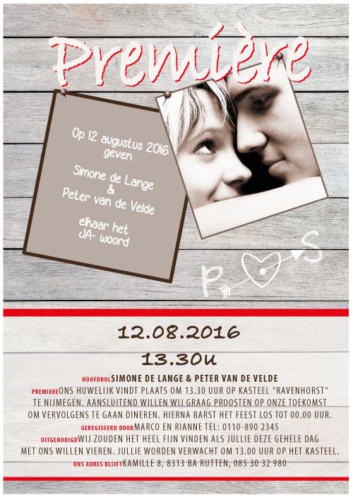 filmposter trouwkaart