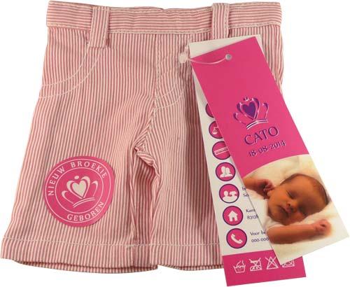 spijkerbroekje geboortekaartje